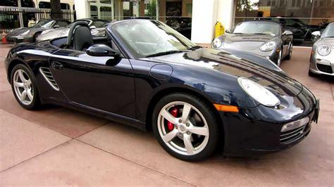 2008 Porsche Boxster S Midnight Blue On Sea Blue Interior