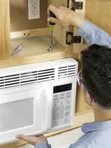 How To Install A Microwave Under A Cabinet Installing An Over The Range Microwave How To Install A