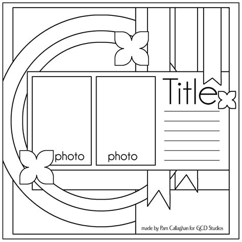 scrapbooking layout templates ideas for scrapbookers two sketches and a template