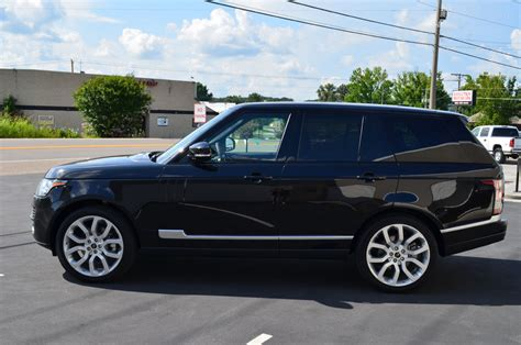 land rover black 2015 range rover hse limo rental transport service in nyc