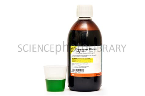 Smoothie To Help With Methadone Detox by Methadone Bottle And Liquid Stock Image C026 0257