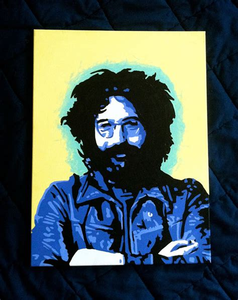 jerry painting 20x16in jerry garcia pop painting grateful dead