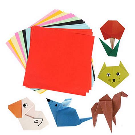 Sided Origami Paper - diy square sided origami folding lucky wish paper