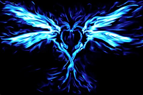 wallpaper blue phoenix blue phoenix love by punkisstillcool on deviantart