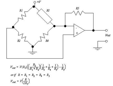 wheatstone bridge with differential lifier figure 14 35 a resistance to voltage lifier