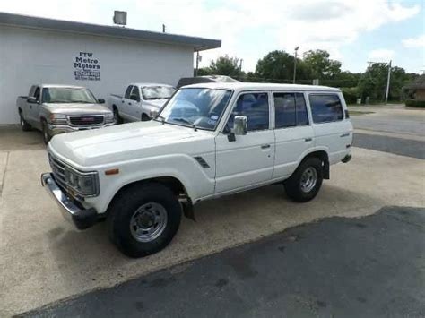 1988 Toyota For Sale 1988 Toyota Land Cruiser 4wd For Sale 4x4 Cars