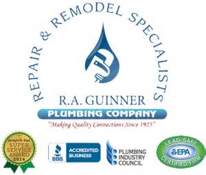st louis plumber r a guinner plumbing company