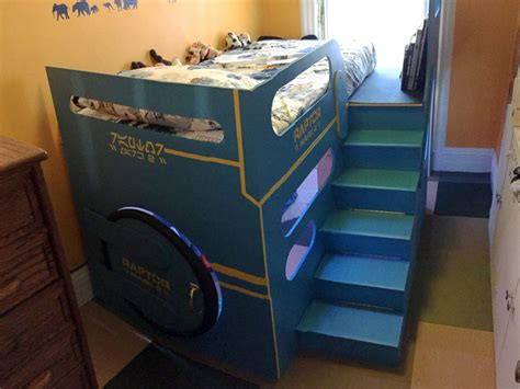 bed for 4 year old dad builds out of this world spaceship bed for 4 year old