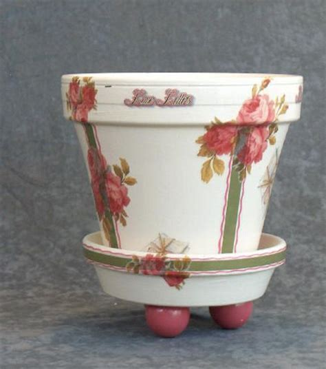 Decoupage Flower Pots - decoupage terra cotta pot pots