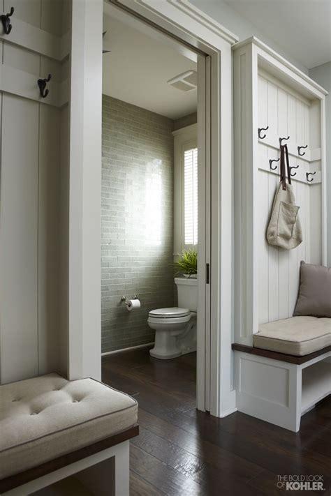 mudroom bathroom ideas hallway design options built in hall trees planked walls