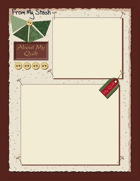 quilt journal template 9 best quilt journals images on journal ideas