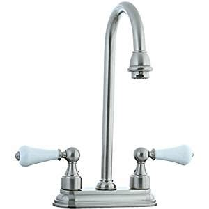 Unlacquered Brass Kitchen Faucet by Cifial 272 225 031 Asbury Centerset Bar Faucet With White