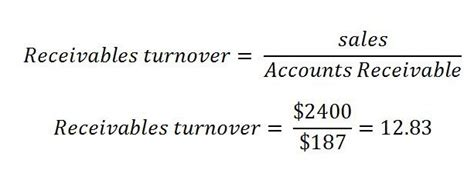 Credit Turnover Ratio Formula Receivables Turnover Definition Subjectmoney