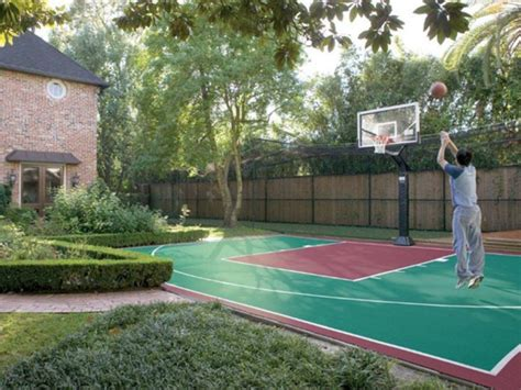 backyard basketball court outdoor basketball half court 2
