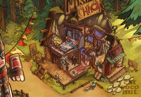 layout gravity falls mystery shack by catcoconut on deviantart