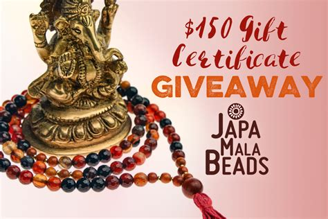 August Giveaway - august giveaway japa mala beads yoga basics