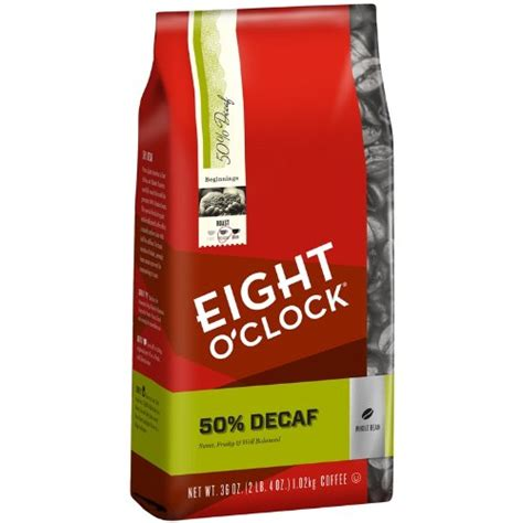 Eight O'Clock Whole Bean Coffee, 50% Decaf, 36 Ounce   Get The Best Coffee Beans!