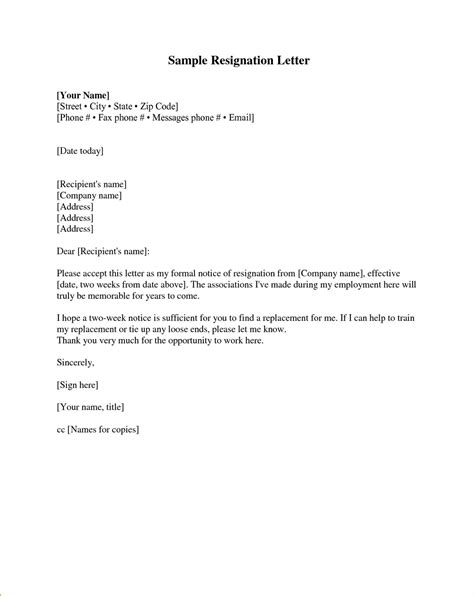 writing a resignation letter sample example of resigning letter