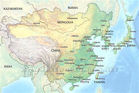 East Of east asia by freeworldmaps net