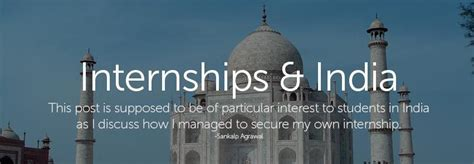 International Internships For Indian Mba Students by The Most Practical Guide Written To Land An Internship