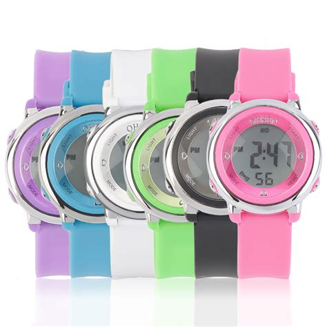 fashion silicone band digital led wrist watches