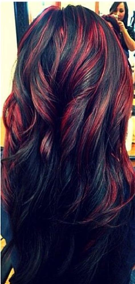 long hairstyles red highlights 20 fascinating black hairstyles for 2018 pretty designs