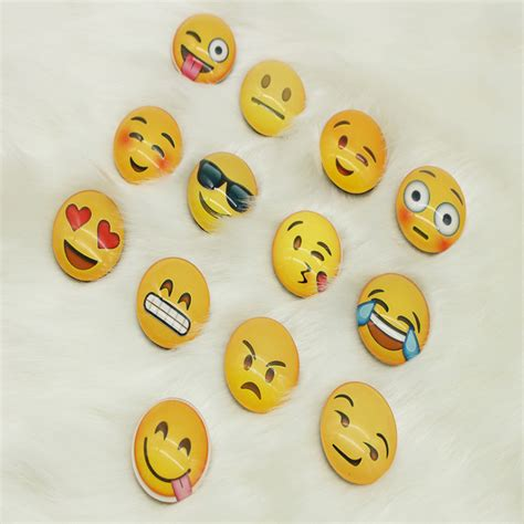 fridge emoji funny emoji round glass refrigerator fridge magnets office