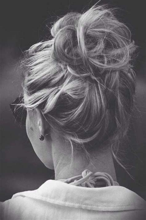 easy messy buns for shoulder length hair best hair updos for medium length hair hairstyles