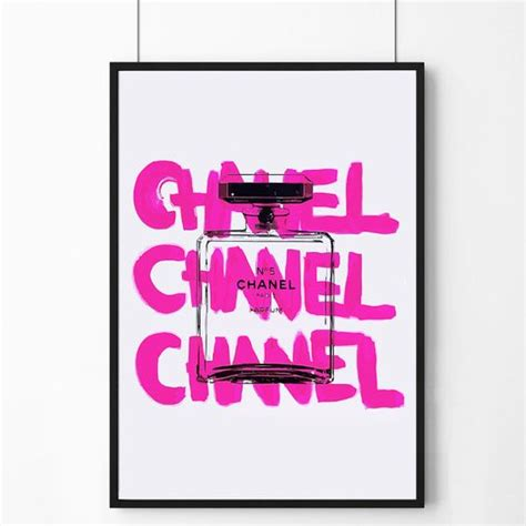 Parfum Chanel Pink poster poster pink chanel logo and perfume original