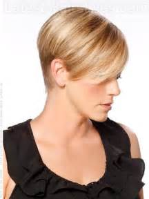 hair with sides shorter than back high profile cute blonde short cut over the ears side view