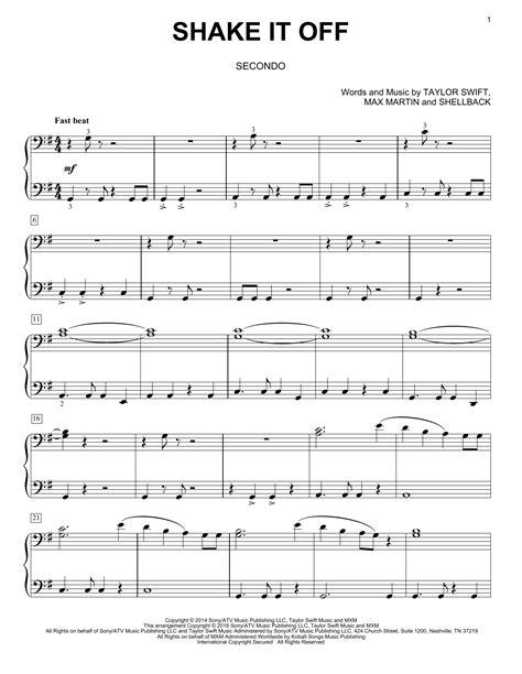 printable lyrics shake it off shake it off sheet music direct