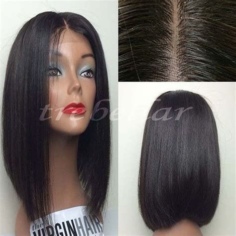 why is my hair straight in the front but curly in the back kinky straight full lace bob wig 100 virgin brazilian