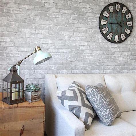 stick on wallpaper gray brick peel and stick wallpaper nu1653 d marie