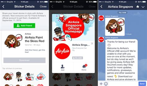 airasia account airasia singapore explores line official account as new