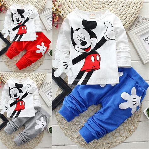 Mickey Casual Dress 1 baby boys mickey mouse set cotton t shirt casual clothing new ebay