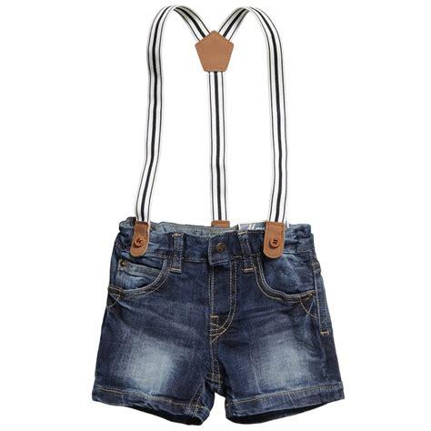 T B B Denim Baby Boy baby boys denim shorts with braces previews