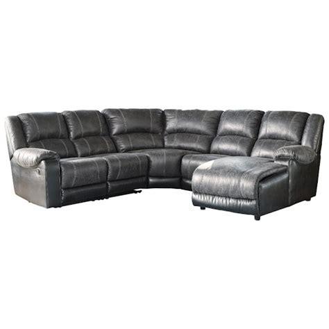 signature design nantahala faux leather reclining