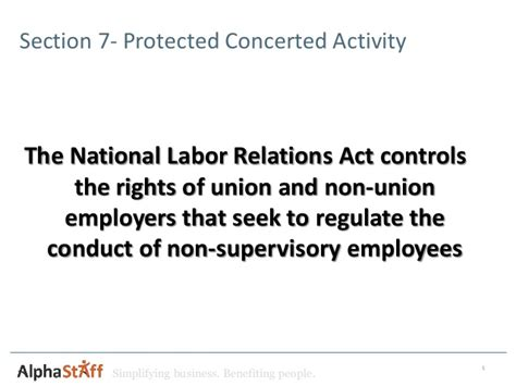 Nlra Section 7 Rights by Recent Nlrb Rulings And Their Impact On Non Union Employers