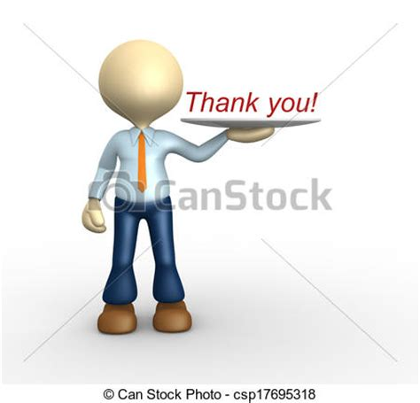 can stock photo clipart clipart of thank you 3d person showing