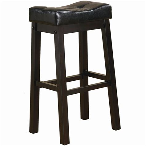 bar stools black leather coaster 120520 black leather bar stool steal a sofa