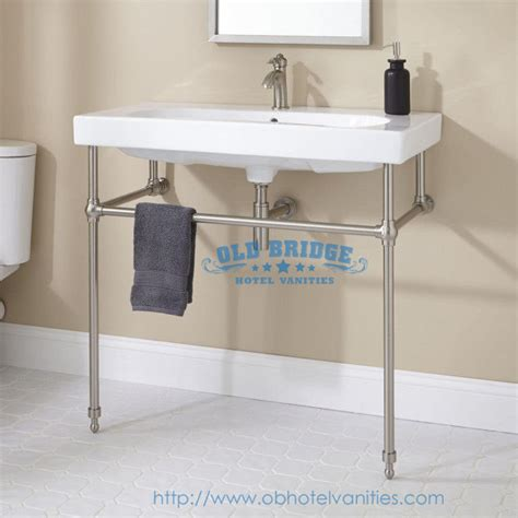 metal vanity set with steel legs