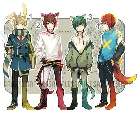 anime boy outfit ideas adoptable set auction closed by sakihata on deviantart