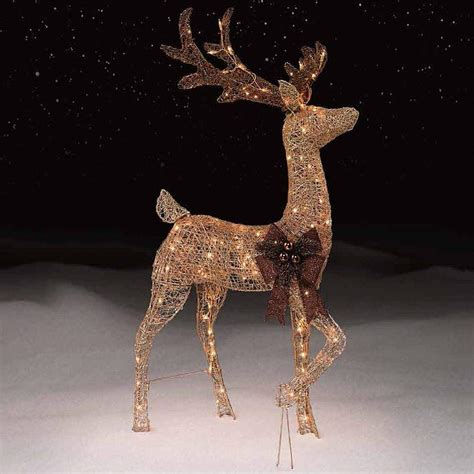 lighted decoration 28 best outdoor lighted reindeer decorations outdoor