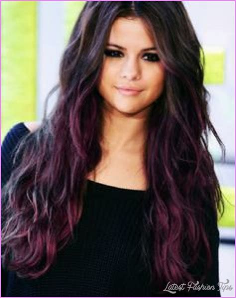 hair with purple streaks hair in the in fashion category of hair color ideas purple
