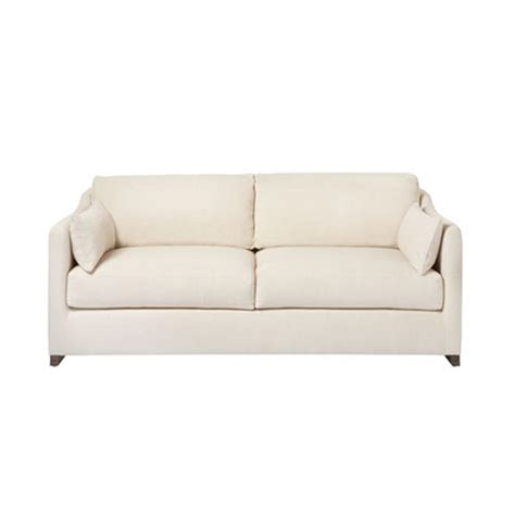 wide classic feather condo sofa 72