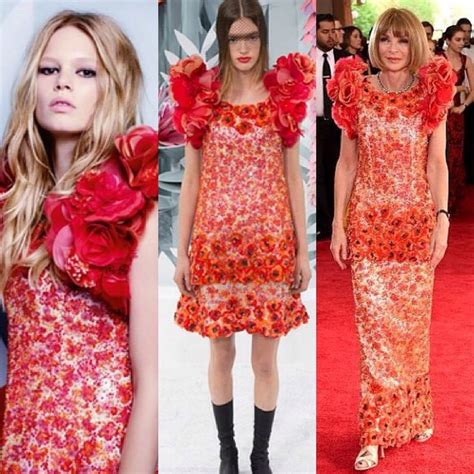 Who Wore Chanel Couture Better Wintour Or by Who Wore It Better