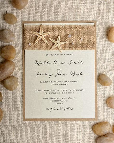 Wedding invitation beach wedding invitation destination wedding