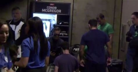 live locker room live conor mcgregor s preparations in his locker room ahead of mendes bout
