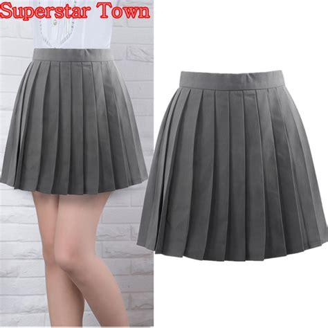 imagenes de faldas escolares grey pleated skirts summer female pleated skirt japan