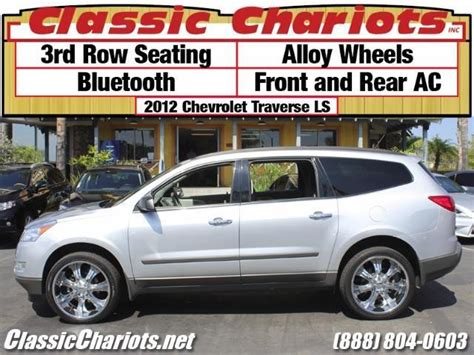 chevy traverse third row seating sold used suv near me 2012 chevrolet traverse ls with